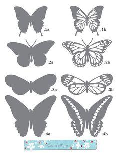 moldes de borboletas em papel - Pesquisa Google