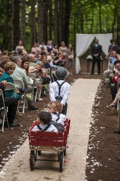 outdoor wedding / ring bearers / wagon I love this!!  Isaiah could pull baby randem in the wagon for you sammy