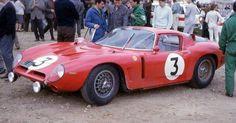 1965 Le Mans 24h, paddock, Iso Prototipi Bizzarini with the Iso Grifo A3C nr3 (de Mortemart-Fraissinet) 9th .