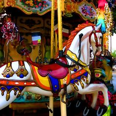 loved carousel horses as a kid...the only kind of horse i like!