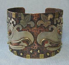 Silver, Copper and Brass Cuff