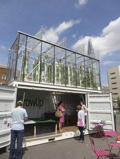 Fazenda Urbana baseada em aquaponia em Londres (GrowUp)