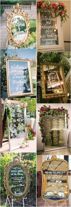 20 Ways to Use Wedding Mirror Signs on Your Big Day! #weddingdecoration