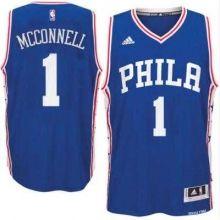 Men's Philadelphia 76ers #1 T. J. McConnell adidas Royal Swingman Road Jersey
