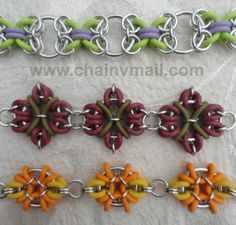 Chainmaille with rubber rings