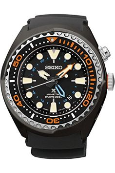SEIKO SUN023P1Mans ProspexKinetic GMT DiversSapphire Crystal200m WRSUN023 -- You can get additional details at the image link. (This is an affiliate link and I receive a commission for the sales)