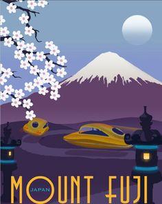Beautiful Retro Futuristic Travel Posters