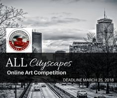 CONTEMPORARY ART GALLERY ONLINE: ALL CITYSCAPES - ONLINE ART COMPETITION - DEADLINE MARCH 25, 2018. Contemporary Art Gallery Online encourages entries from all 2D and 3D artists regardless of their experience or education in the art field. https://www.theartlist.com/art-calls/all-cityscapes-online-art-competition