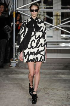 Moschino Cheap & Chic RTW Fall 2013 - Slideshow - Runway, Fashion Week, Reviews and Slideshows - WWD.com