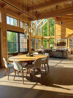 Berkshires Lake House — CFK Interiors Conference Room, Lake Shore, Interiors, Table, House, Furniture, Home Decor, Ideas, Cottage