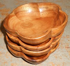 Vintage Bowls Monkey Wood Wood Bowls Monkey Pod by TheBackShak, $15.00