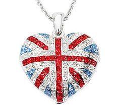 BOLD & BRITISH ~ Funky Locket with Swarovski Elements ~ FUN FASHION LOOK! $85