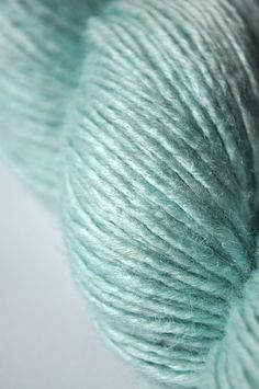 The sheen from a touch of silk will enrich the textures in my A Modern Victorian Shawl. This soft teal is a great colour for it too.