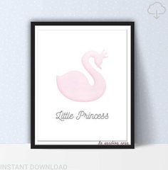 Little princess print Baby girl nursery decor Princess room