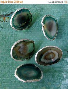 Pull Handle Sale Large Silver Leaf Edge Custom Turquoise Agate Slice Drawer Pulls Knobs
