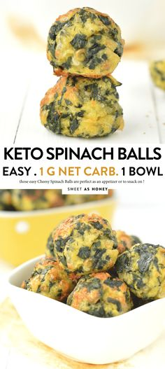 KETO SPINACH BALLS 1 g net carb per serve easy healthy gluten free keto spinach spinachballs glutenfree appetizers lowcarb cheesy thanksgiving christmas snack Healthy Appetizers, Keto Snacks, Appetizer Recipes, Healthy Snacks, Spinach Appetizers, Carb Free Snacks, Healthy Chips, Gluten Free Appetizers, Recipes Dinner