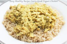 Healthy dinner idea: Curry Greek Yogurt Chicken (from Clean Eating Weight Loss Meal Plan CLICK PIN to enjoy other healthy ideas from daily WEIGHT LOSS meal plans! Weight Loss Meals, Healthy Recipes For Weight Loss, Super Healthy Recipes, Easy Healthy Dinners, Healthy Snacks, Healthy Eating, Healthy Weight, Easy Recipes, Healthy Dishes