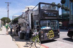 """A double decker roach coach with seating up top! Read """"Food Truck Cleanliness"""" for a good laugh and some interesting info about the food truck industry."""