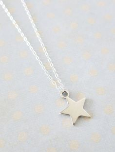Petite Silver Star Necklace - Sterling Silver Lucky Star Necklace, Simple, Everyday pretty, love, quirky, handmade, gifts, luck, dainty, www.colormemissy.com