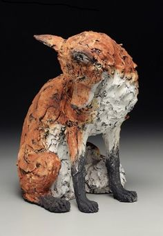 reverence for the natural beauty around us and within us Ceramic Animals, Clay Animals, Ceramic Art, Fox Art, High Art, Equine Art, Sculpture Clay, Animal Sculptures, Wildlife Art