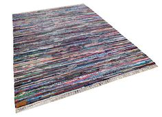 Sustainable chindi rag rug black with colours by BloomsFromLooms