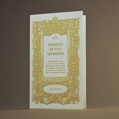 Letterpress greeting card - Friends