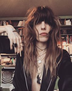 "Lou Doillon ☕ on Instagram: ""Friday Funday #getyourpencilsout #bergerdebrie"" Lou Doillon, Hair Inspo, Hair Inspiration, Friday Funday, Cute Maxi Dress, Style Rock, Serge Gainsbourg, Vogue, Grunge Look"