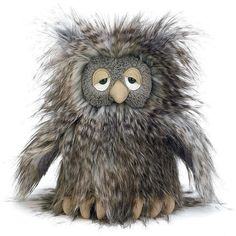 Orlando Owl by Jellycat (Grey). Available at Send A Toy