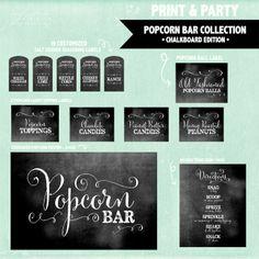 Family Picnic Popcorn Bar - cool font