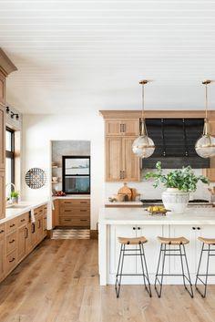Kitchen Redo, Home Decor Kitchen, Kitchen Interior, New Kitchen, Home Kitchens, Kitchen Remodel, Natural Kitchen, Cottage Kitchens, Interior Livingroom