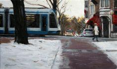 Utrechtsestraat (Amsterdam) | oil on linen painting by Richard van Mensvoort