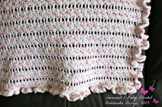 Perfect for your little one! Instructions are included to make this baby blanket even larger - it is totally customizable! Try Savannah's Baby Blanket Pattern!