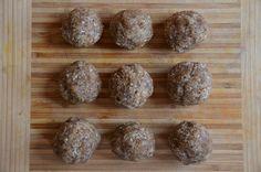 Paleo Power Balls. Chia Seeds, Almonds, Cashews, Hazelnuts, Walnuts, Shredded Coconut, Coconut Oil, Vanilla, Sea Salt.