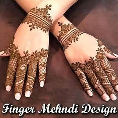 Mehndi design is one of the most authentic arts for girls. The ladies who want to decorate their hands with the best mehndi designs. Finger Henna Designs, Henna Art Designs, Mehndi Designs For Girls, Modern Mehndi Designs, Bridal Henna Designs, Dulhan Mehndi Designs, Mehndi Design Pictures, Mehndi Designs For Fingers, Latest Mehndi Designs