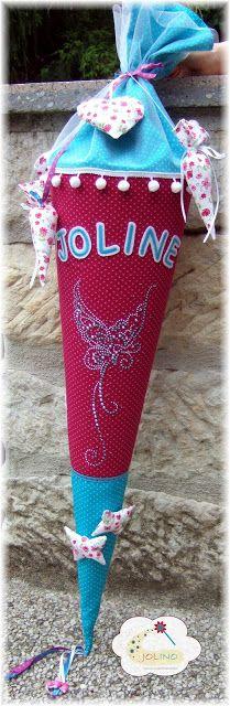 Zuckertüte Schultüte genäht nähen Schmetterling Einschulung Schulanfang
