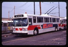 SEPTA- PHILADELPHIA (PA)         FLYER TROLLEY BUS #885         ORIGINAL SLIDE