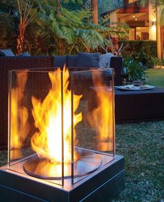 Friendly ethanol fire