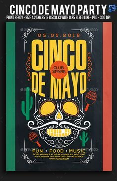 #Cinco De Mayo Party Flyer - #Clubs & #Parties Events