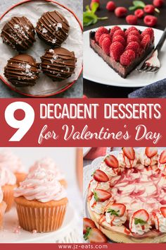 From cupcakes to cheesecakes and everything in between, we have 9 decadent desserts for your special Valentine's Day dinner this year! #valentinesdayrecipes #valentinesday #desserts #dessertrecipes #valentinesdaydesserts #cupcakes #cheesecake #truffles #pudding #cookies #souffles #browniesundae Valentines Day Dinner, Valentines Food, Valentine Treats, Homemade Cheesecake, Cheesecake Recipes, Cupcake Recipes, Holiday Desserts, Easy Desserts, Holiday Recipes