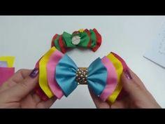 Como Hacer lazos/ Moños para el cabello de Niñas / Paso a paso Moños - YouTube