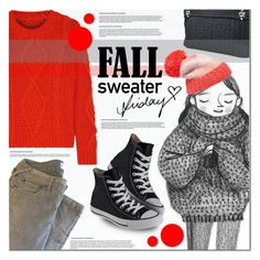 """""""Cozy Fall Sweaters"""" by anna-anica ❤ liked on Polyvore featuring Jimmy Choo, MM6 Maison Margiela, Kate Spade and Converse"""