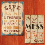 funny signs for homes and cards. they're on sale on #zulily for the next 3 days