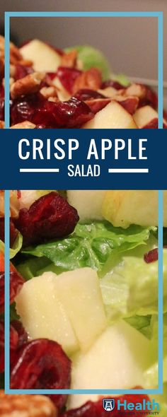 Go fresh this fall by adding this heart-healthy salad to your menu as an entree or side salad. Yum!