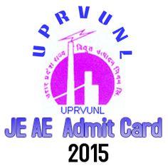 UPRVUNL JE AE Admit Card 2015