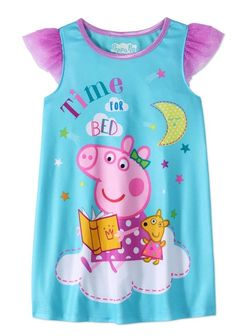 Toddler Girls Peppa Pig Nightgown Pajamas Dress Sz 5T New with Tag Summer/Spring #Nickelodeon #Nightgown