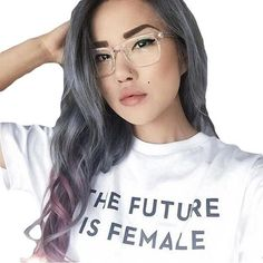 Hillbilly The Future Is Female Letters T-Shirts Ins Women's Tees Fashion Loose Streetwear Cotton Short Sleeve Girl's Tshirts Hipster Outfits, Mom Outfits, Tumblr Feminist, Streetwear, Love Quotes Photos, Hair Growth Tips, Mom Style, Cool Tees, Shirts For Girls