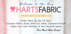 Welcome to the New Home of Harts Fabric!