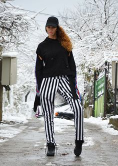 Black And White Pants Extravagant Plus Size Pants Tapered