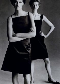 Vogue US, July 1995 / Photographer: Steven Meisel / Models: Linda Evangelista; Kristen McMenamy