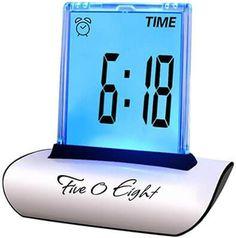Alarm Clocks Open-Minded Mrosaa Calendar Led Display Alarm Clock Mini Foldable Snooze Temperature Digital Desktop Table Clocks Weather Electronic Clock Clocks